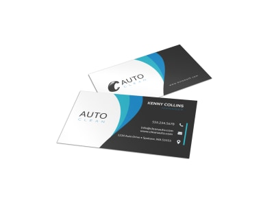 Modern Car Wash Business Card Template preview