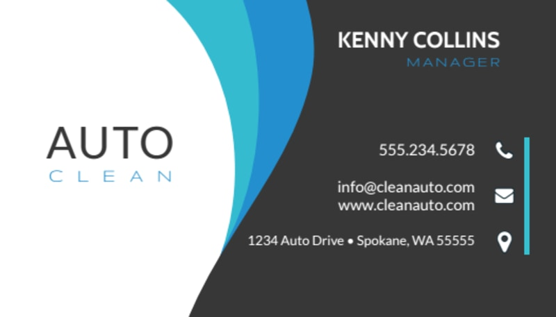 Modern Car Wash Business Card Template Preview 2