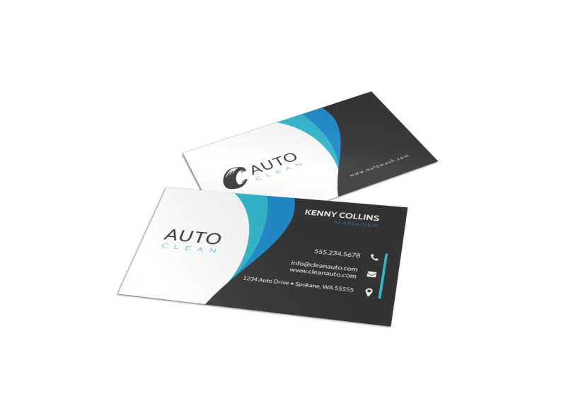 Modern Car Wash Business Card Template Preview 1