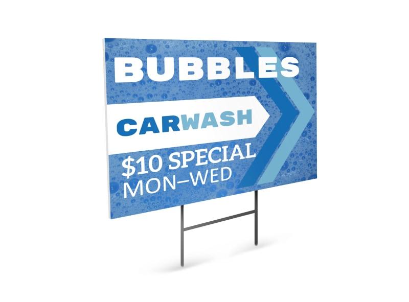 Car Wash Yard Sign Template
