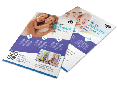 Childcare Babysitting Flyer Template preview