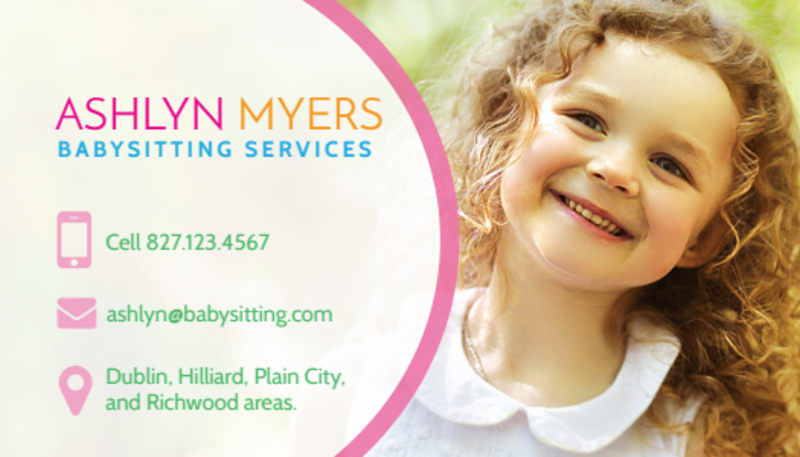 Babysitting Service Business Card Template Preview 2