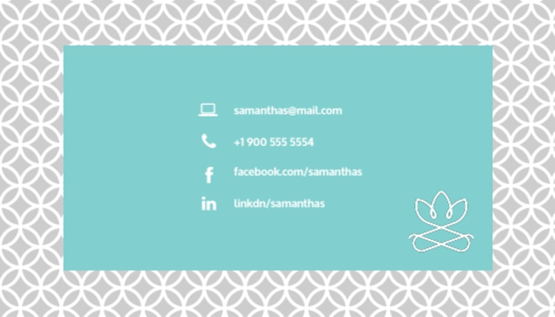 Teal Babysitting Business Card Template Preview 3