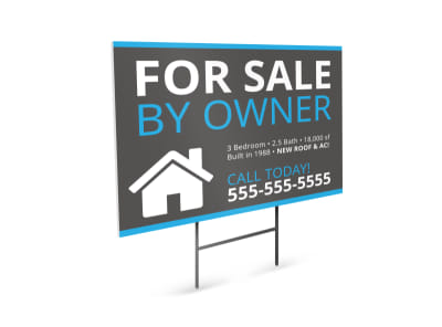 For Sale By Owner Yard Sign Template