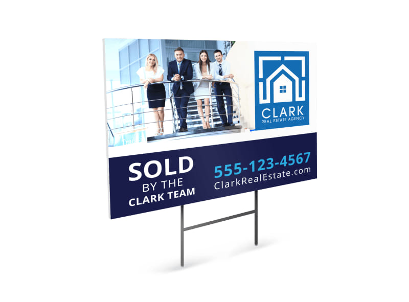 Real Estate Sold By Yard Sign Template
