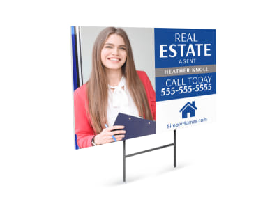 Real Estate Agent Yard Sign Template preview