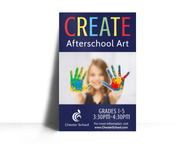 Afterschool Art Poster Template preview
