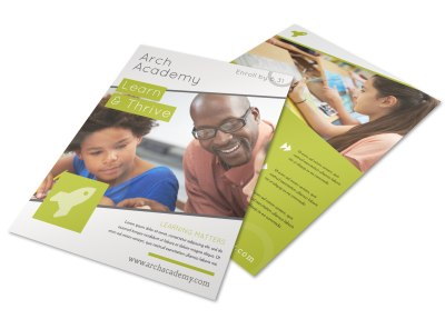 School Academy Flyer Template preview