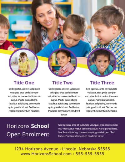 School Enrollment Flyer Template Preview 2