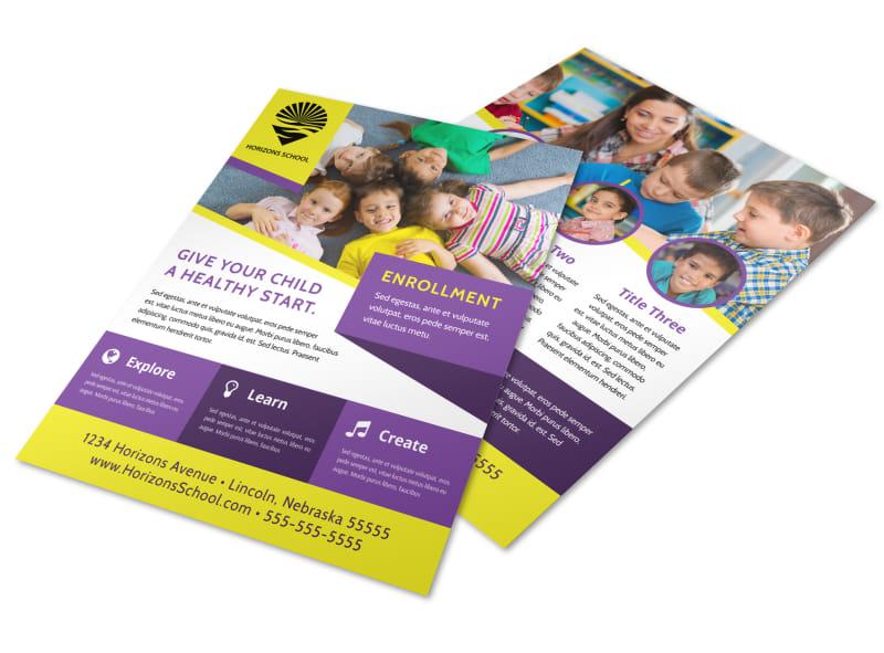 School Enrollment Flyer Template Preview 4