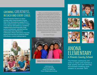 Elementary School Tri-Fold Brochure Template Preview 1