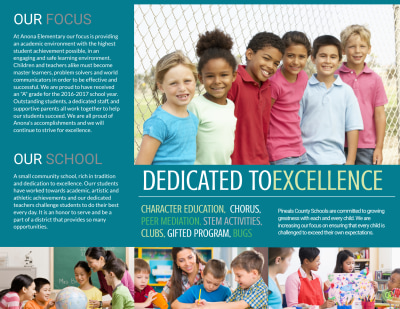Elementary School Tri-Fold Brochure Template Preview 2