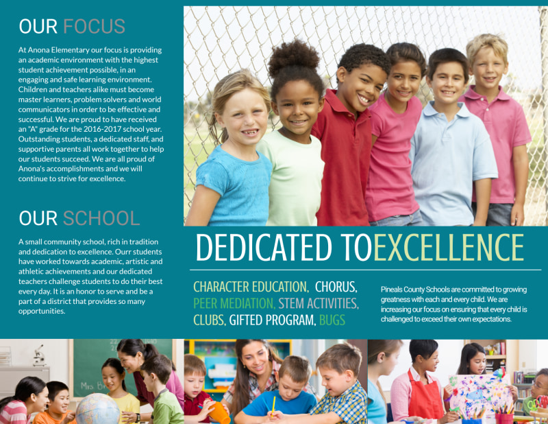 Elementary School Tri-Fold Brochure Template Preview 3
