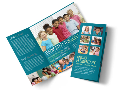 Elementary School Tri-Fold Brochure Template preview