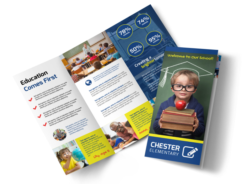 School Welcome Tri-Fold Brochure Template Preview 4