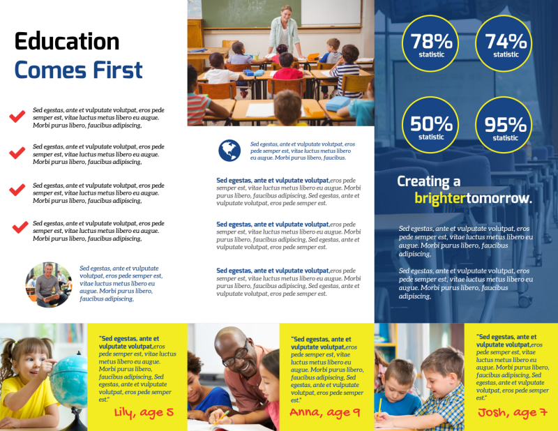 School Welcome Tri-Fold Brochure Template Preview 3