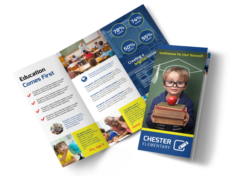 School Welcome Tri-Fold Brochure Template Preview 1