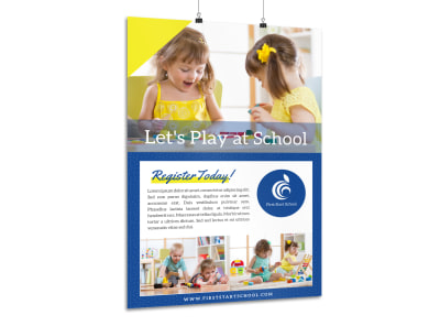 Preschool Registration Poster Template preview