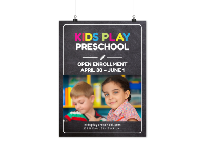 Preschool Poster Templates Template Preview