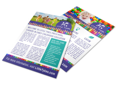Fun Preschool Newsletter Flyer Template preview