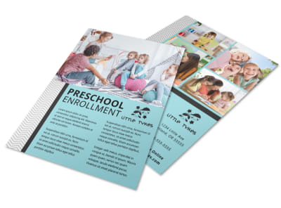 Preschool Enrollment Flyer Template preview