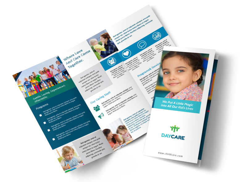 great daycare tri fold brochure template