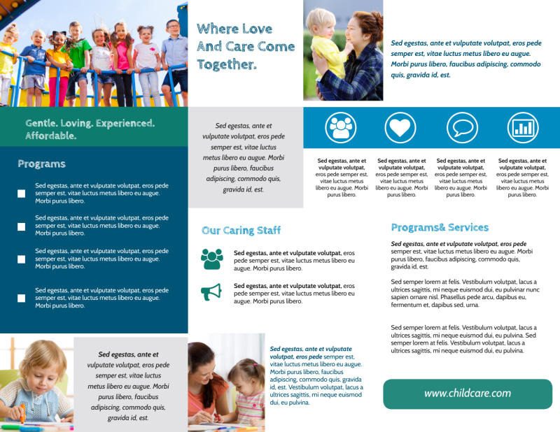 Great Daycare Tri-Fold Brochure Template Preview 3