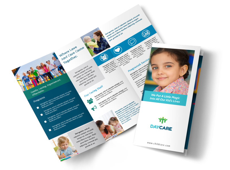 Great Daycare Tri-Fold Brochure Template Preview 1