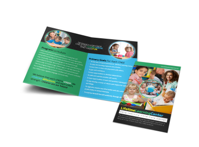 Lifetime Learning Center Bi-Fold Brochure Template preview