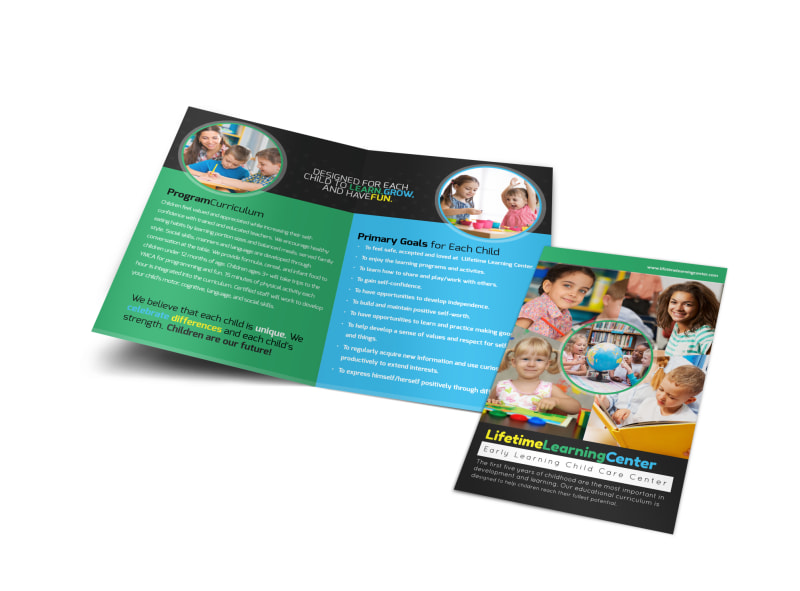 Lifetime Learning Center Bi-Fold Brochure Template Preview 4
