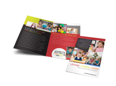 Lifetime Learning Bi-Fold Brochure Template preview
