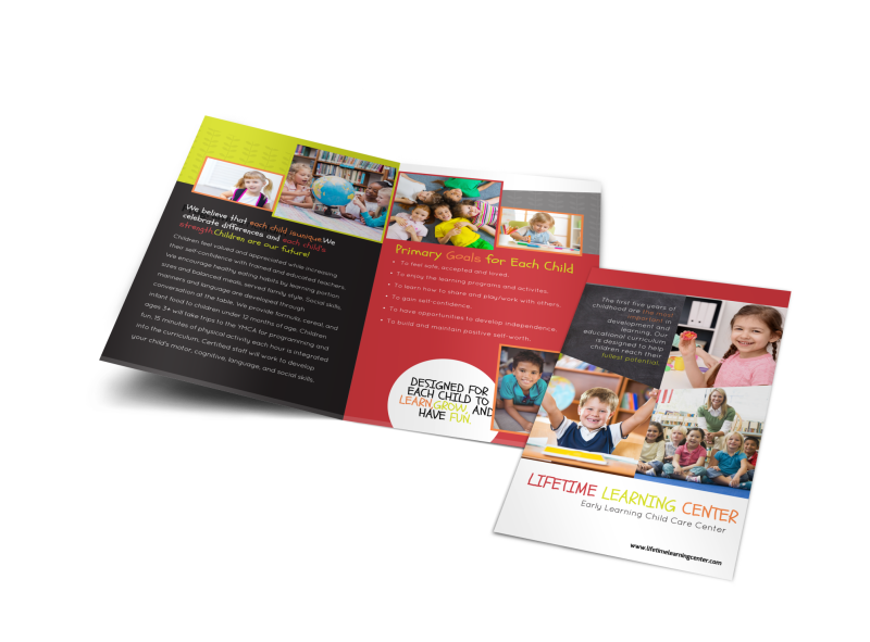 Lifetime Learning Bi-Fold Brochure Template Preview 1