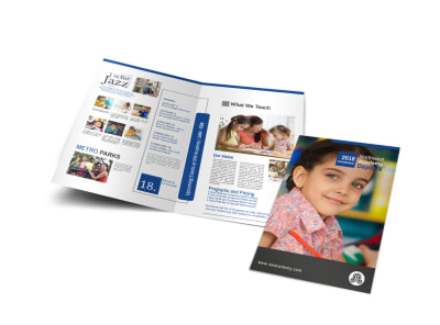 Academy Learning Bi-Fold Brochure Template preview