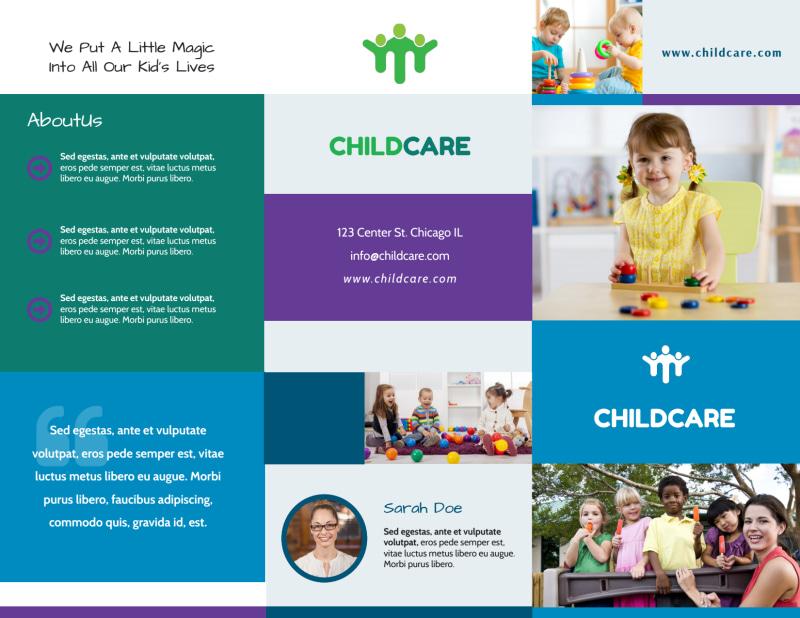 Fun Daycare Tri-Fold Brochure Template Preview 2
