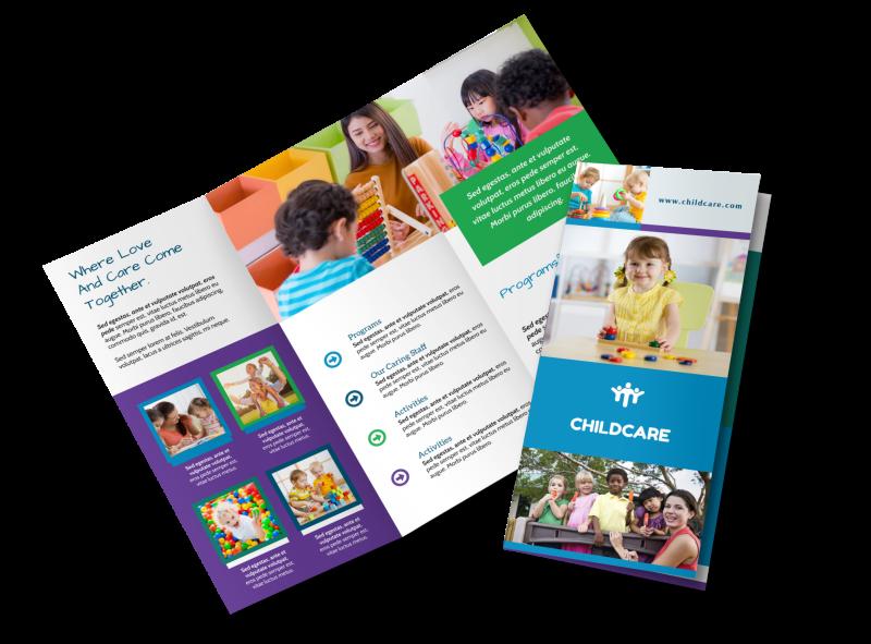 Fun Daycare Tri-Fold Brochure Template Preview 1
