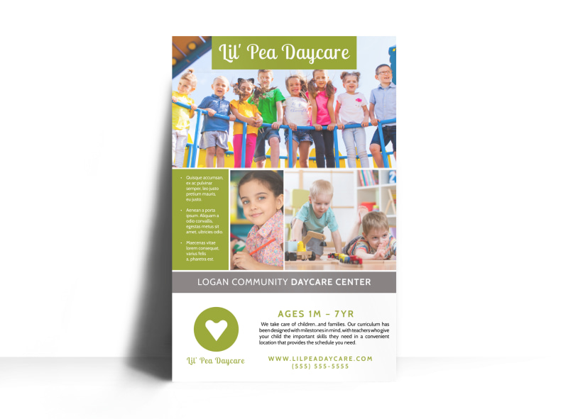 Daycare Center Poster Template