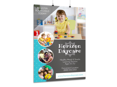 Daycare Registration Poster Template preview