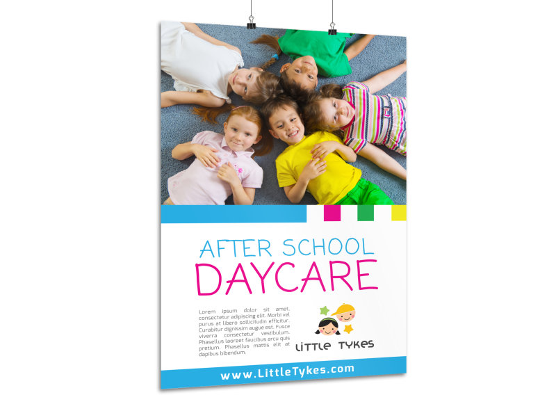 After School Daycare Poster Template