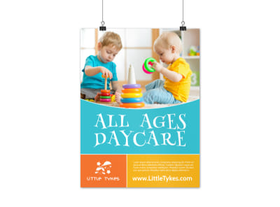 All Ages Daycare Poster Template preview