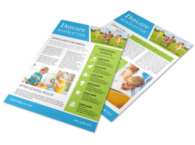 Classic Daycare Newsletter Template preview