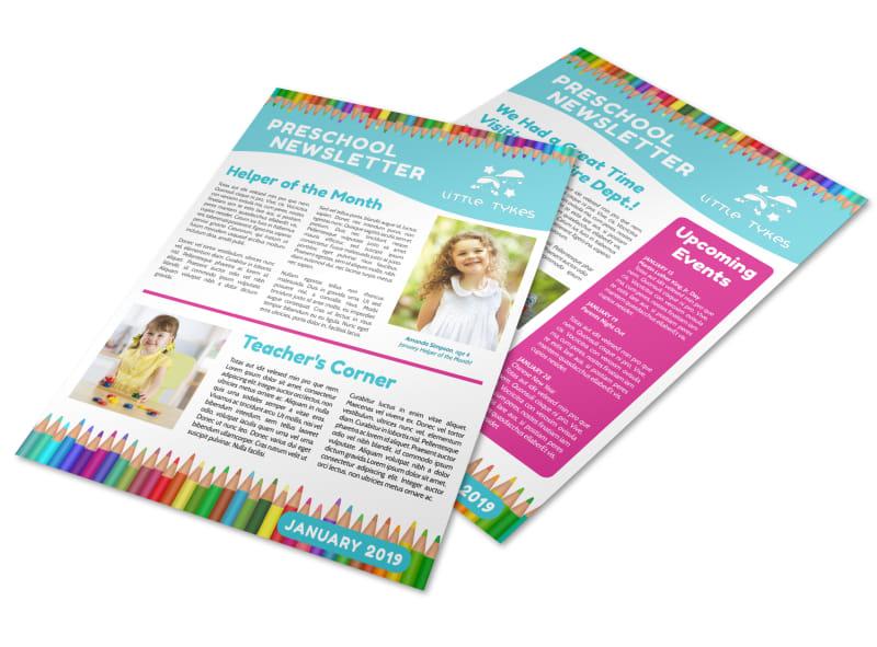 Preschool Newsletter Template Preview 4