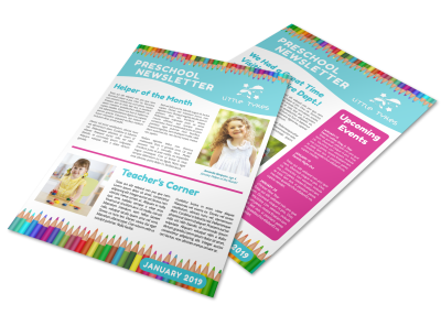 Preschool Newsletter Template Preview 1