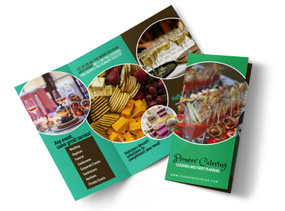 Pioneer Catering Tri-Fold Brochure Template preview