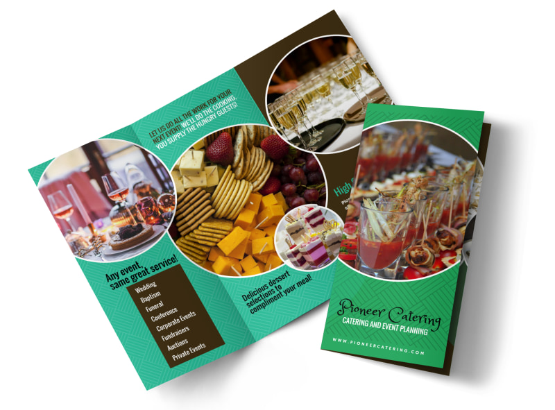 Pioneer Catering Tri-Fold Brochure Template
