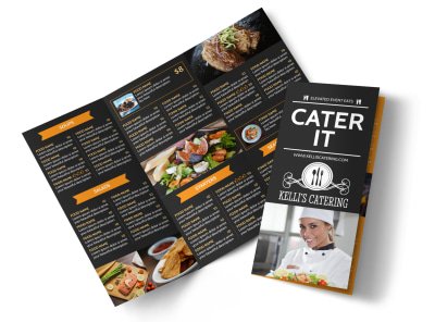 Cater It Tri-Fold Brochure Template preview