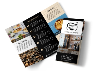 Catering Menu Tri-Fold Brochure Template preview