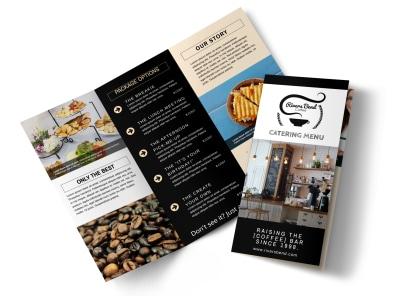 Catering Menu Tri-Fold Brochure Template preview