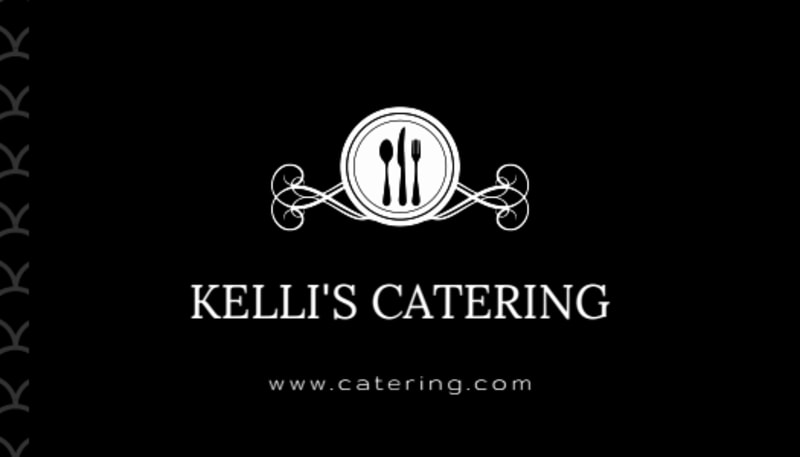 Black Catering Business Card Template Preview 3