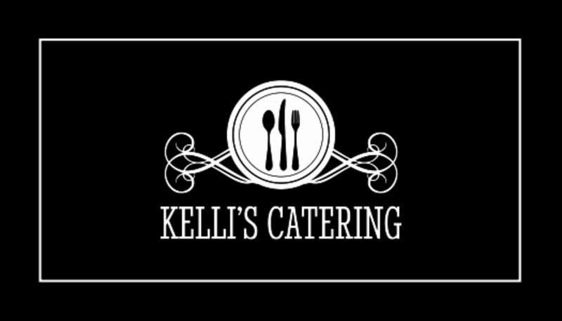 Black & White Catering Business Card Template Preview 3