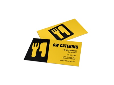 CW Catering Business Card Template preview